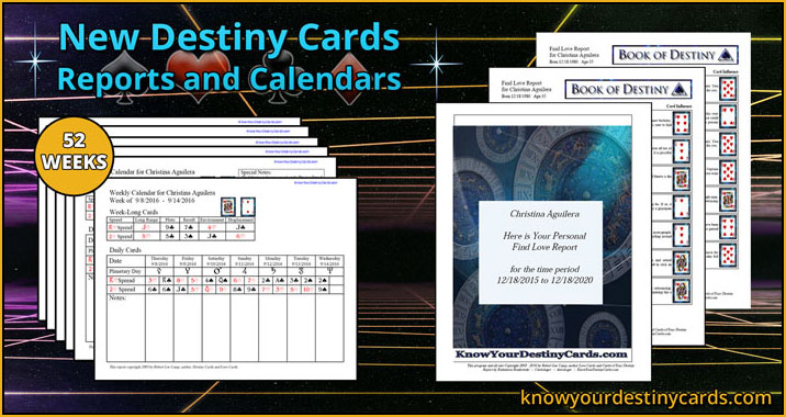 Destiny and Love Cards | Reports & Calendars